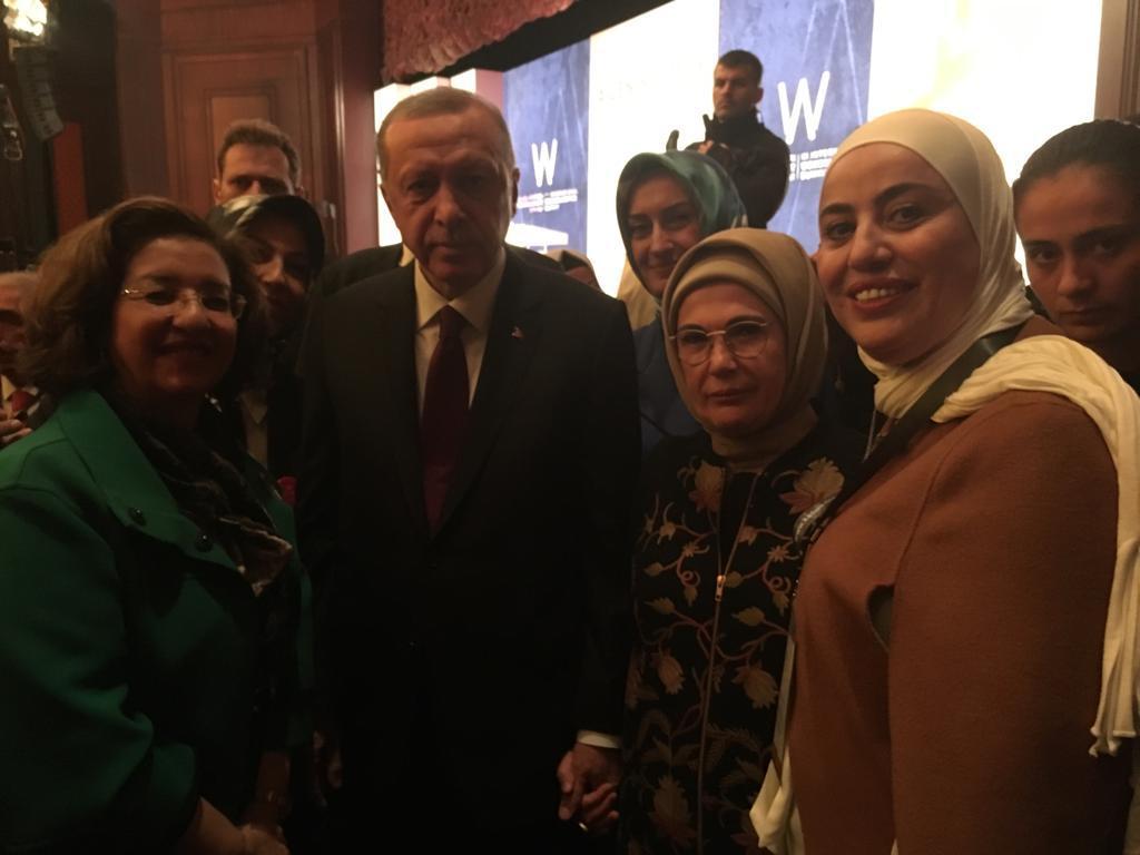 23 Kasım 2018 IWF Lübnan Üyeleri Cumhurbaşkanı Erdoğan ve Hanımefendi