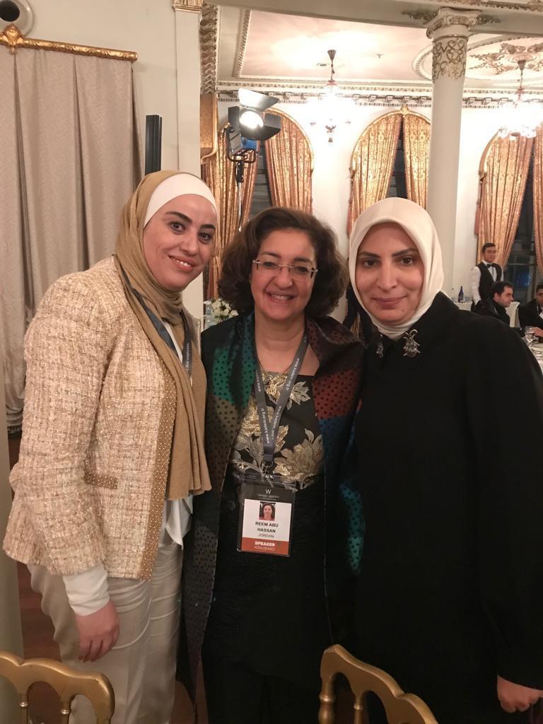 Geçmiş Dönem Ürdün Aile Bakanı Reem Abu Hassan, Ürdün Milletvekili Wafa Bani Mustafa ve IWF Türkiye Üyesi Yasemin Gür Solmaz buluşması